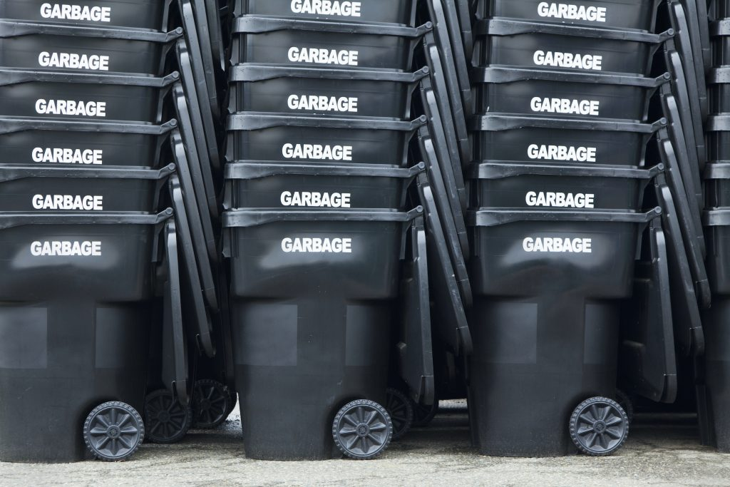 Black Garbage Bins