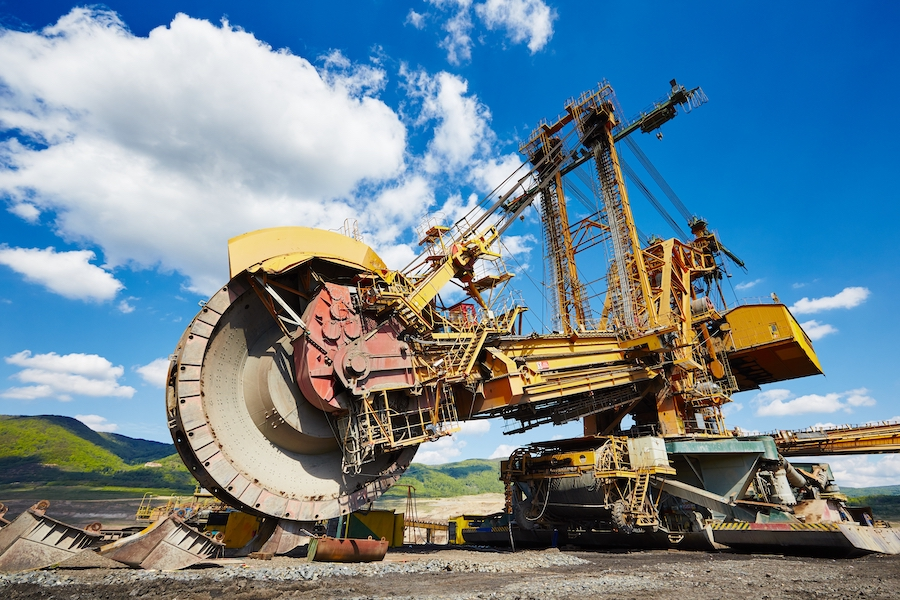 Huge mining machine in the coal mine